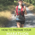 girl on running trail with text overlay | Bucket List Tummy