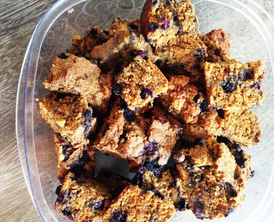 Easy sweet potato quick bread recipe cut into squares | Bucket List Tummy