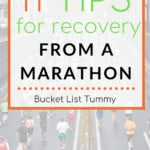 Tips for recovery from a marathon text overlay