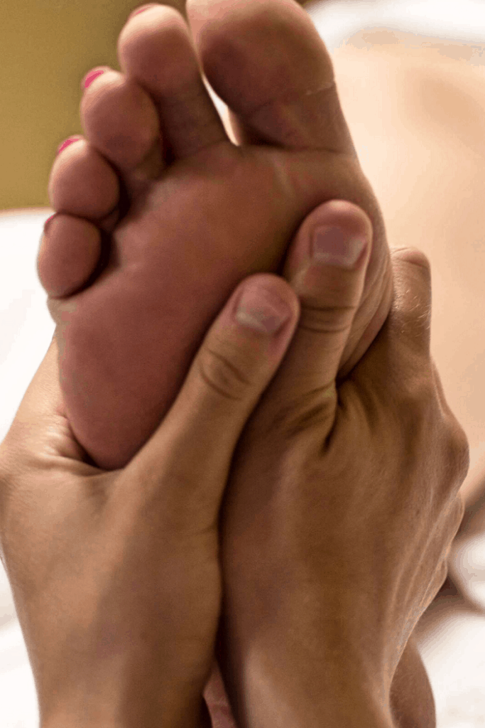 Person getting foot massage