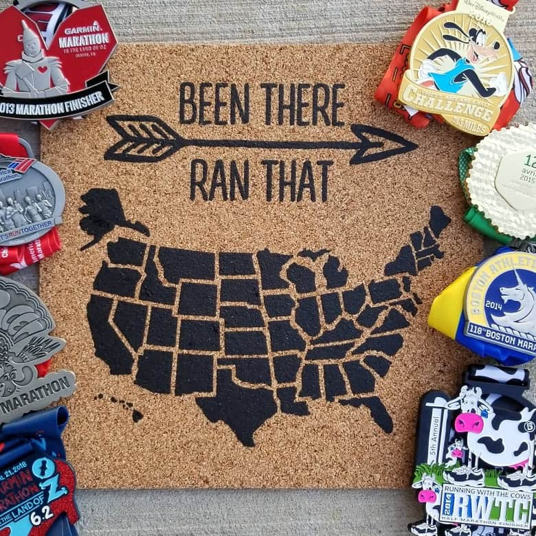 corkboard map is a great option for unique gifts for runners