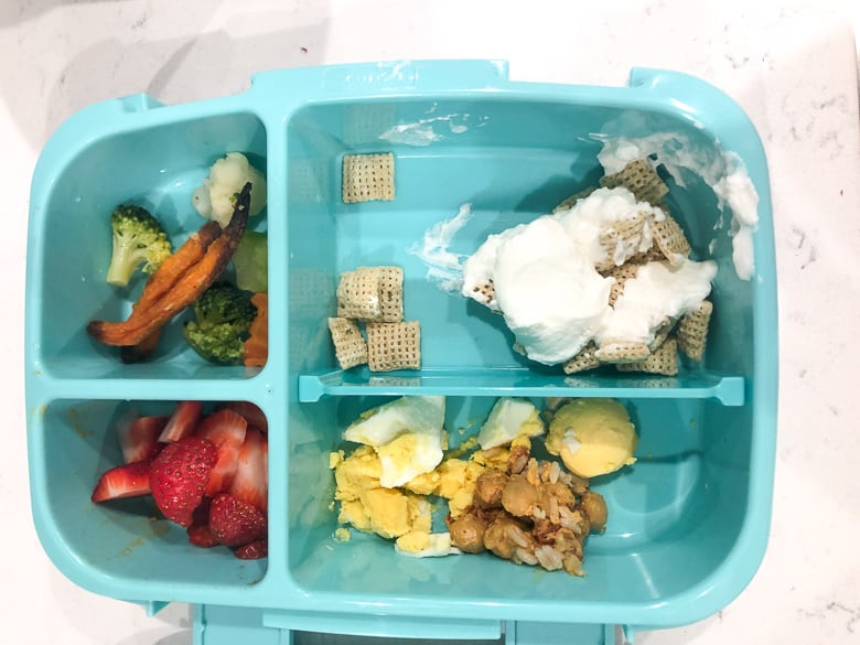 Bentgo box with toddler lunch