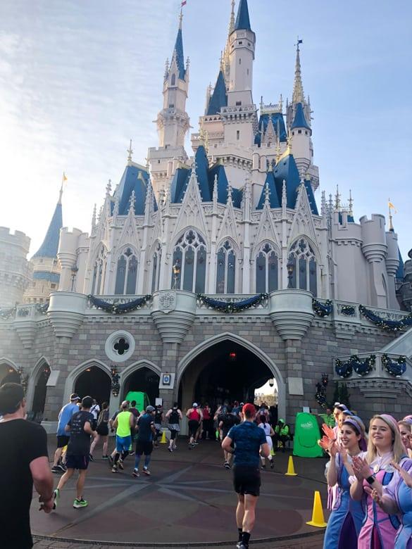 Entering Cinderella Castle During Disney Marathon