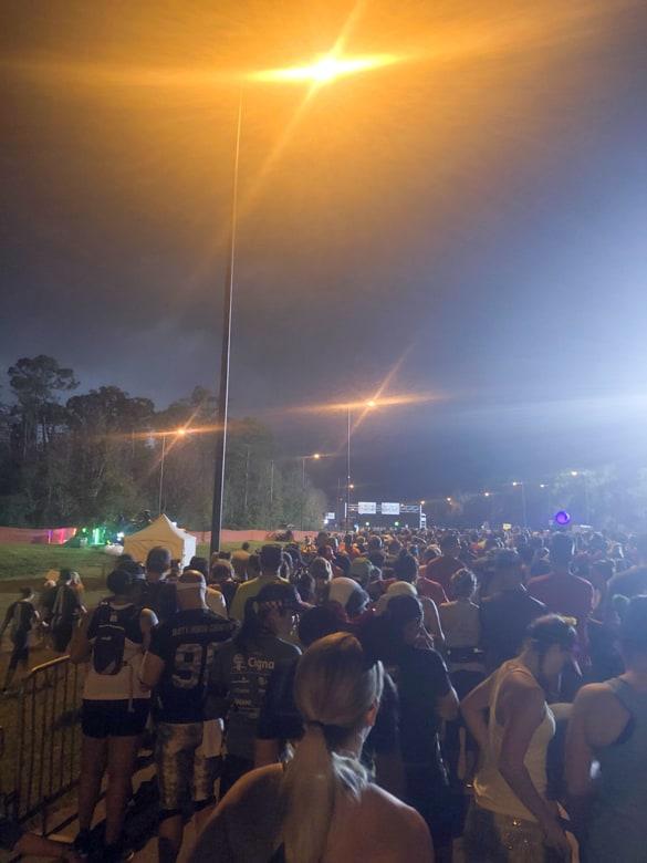 4am corrale line up at Walt Disney Marathon