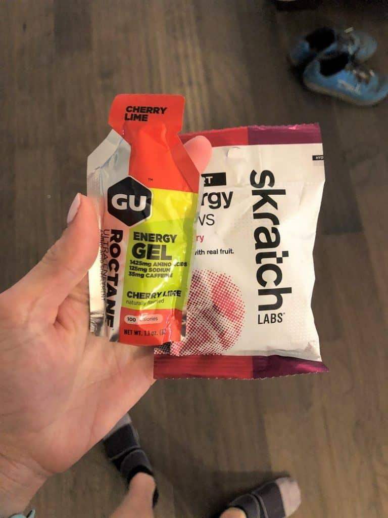 Gu and skratch chews for electrolytes