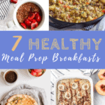 collage of meal prep breakfast ideas with text overlay