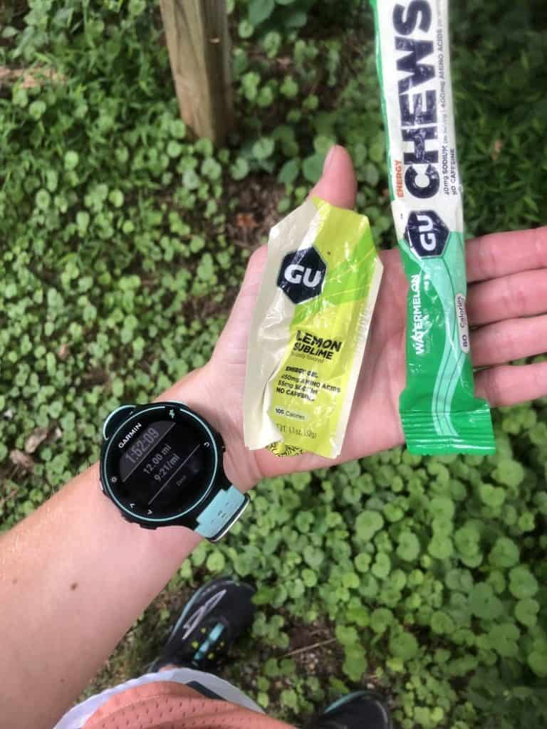 GU gel and GU chews during long run