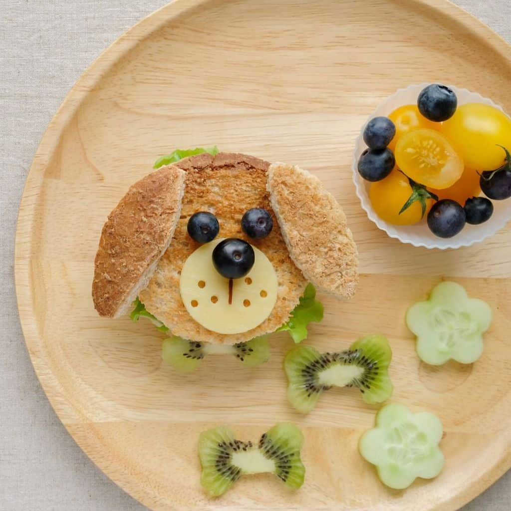 Healthy finger foods for toddlers made into animals and shapes