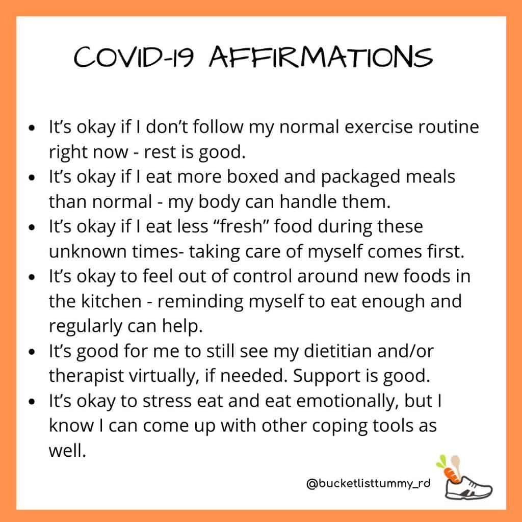 Affirmations to get through Coronavirus