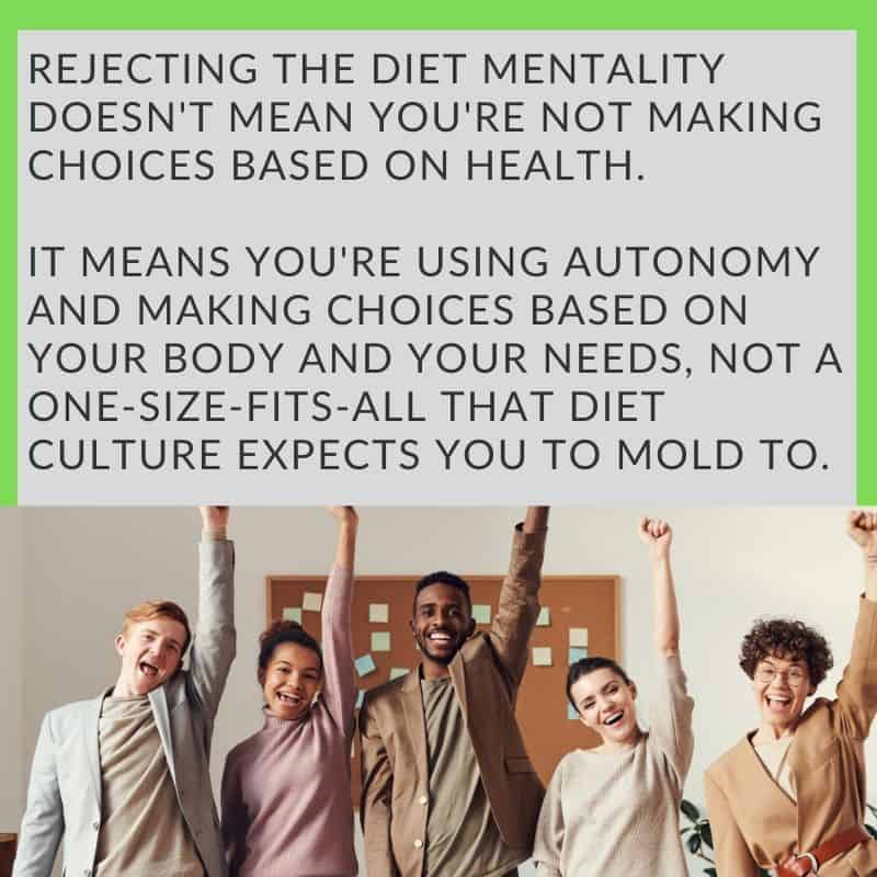 Rejecting diet culture for your own autonomy