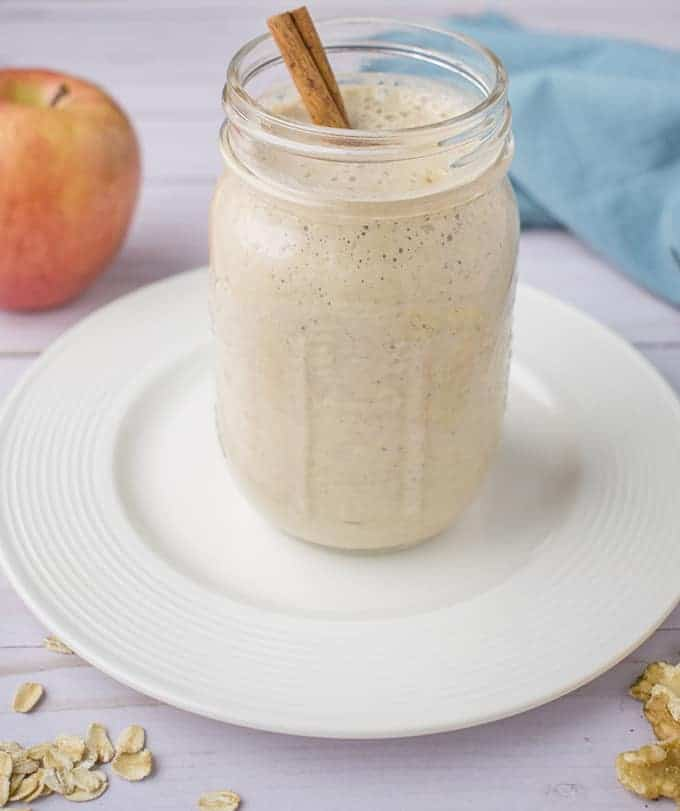 vegan apple cinnamon smoothie