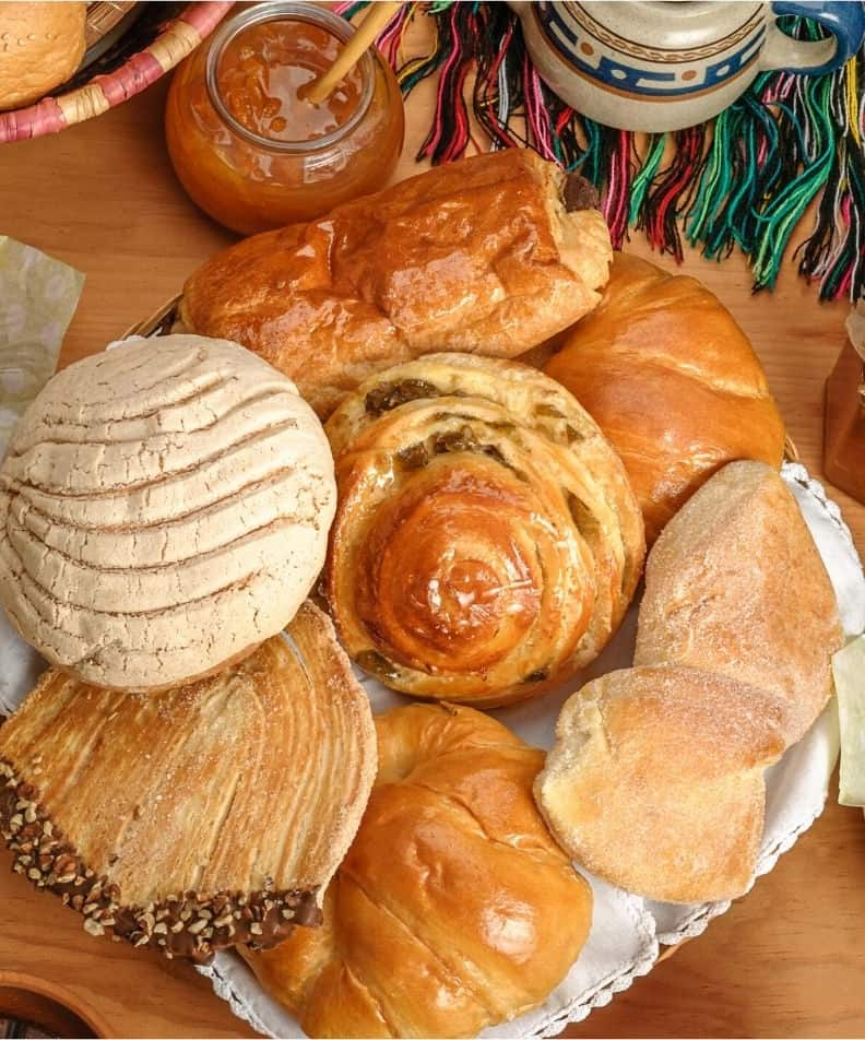 plate of breads and sweets
