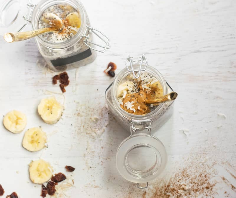 overnight chia seed pudding with peanut butter | www.bucketlisttummy.com