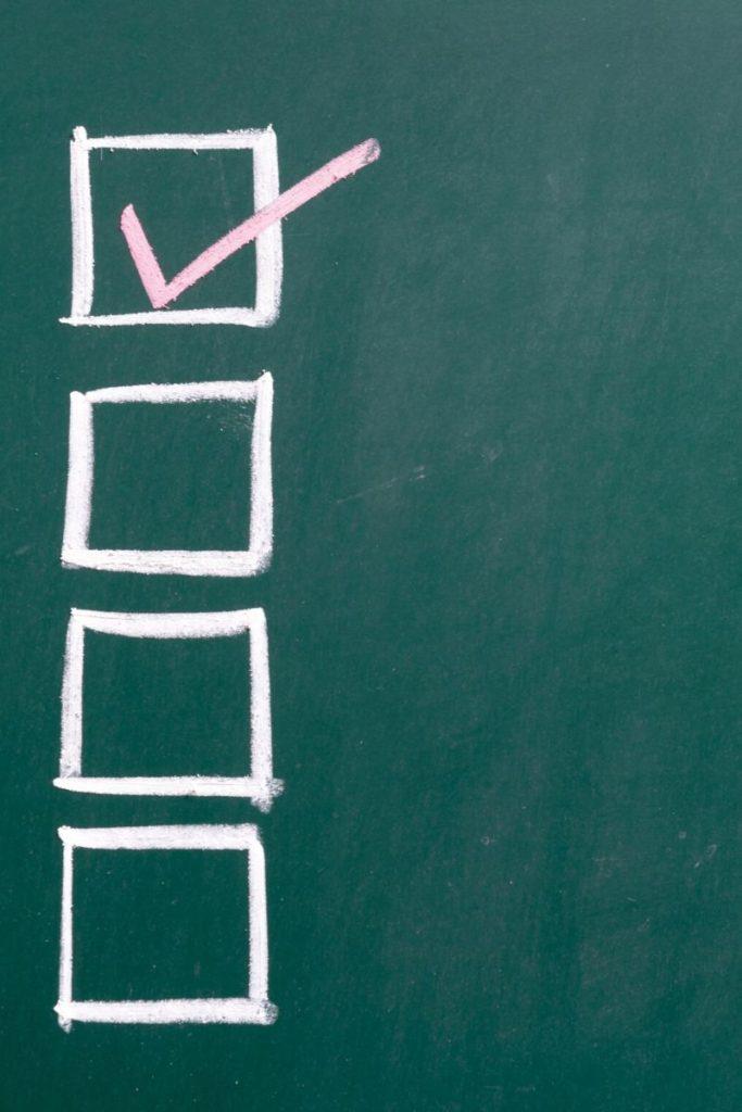 checklist on chalkboard | Bucket List Tummy