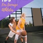 teenage girl and boy playing basketball with text overlay | Bucket List Tummy
