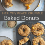 baked donuts in donut pan with text overlay