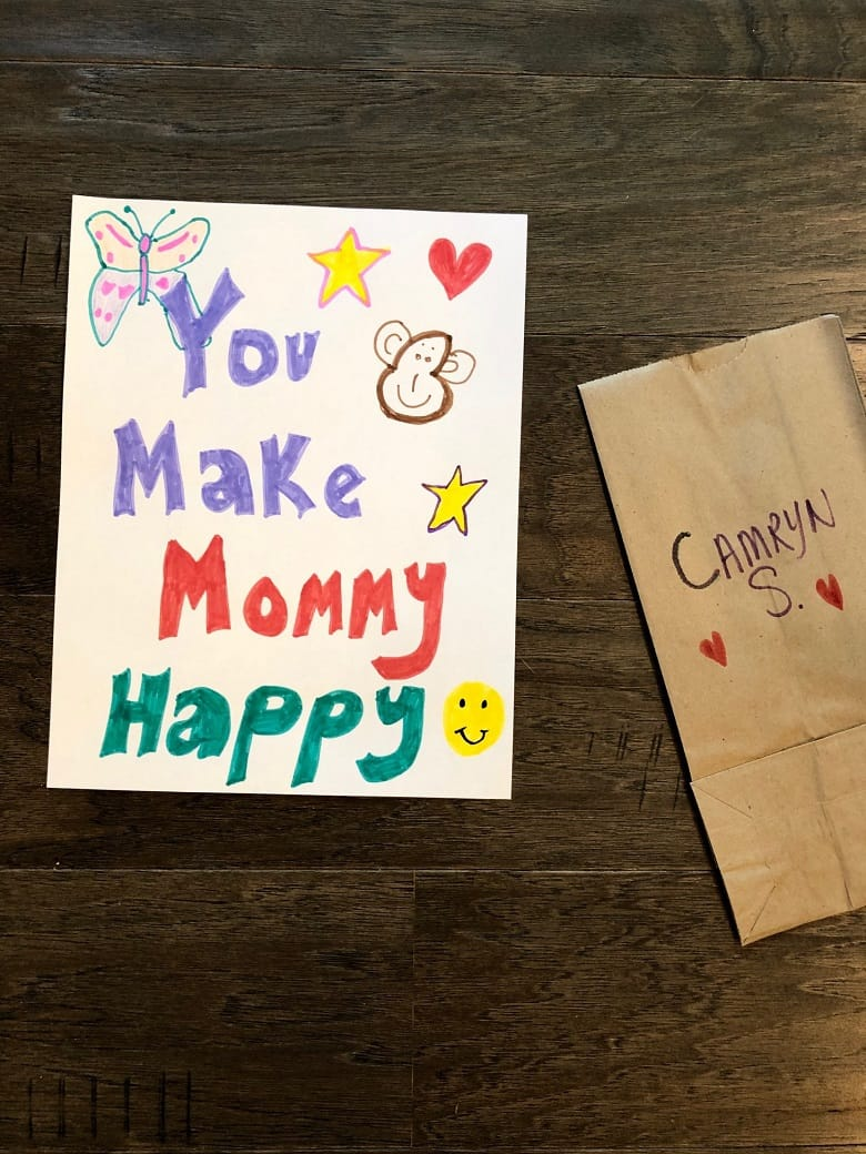 you make mommy happy homemade note in luchbox