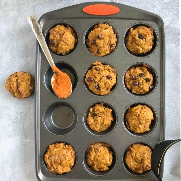 Pumpkin Zucchini Muffins (Dairy Free Pumpkin Muffins)