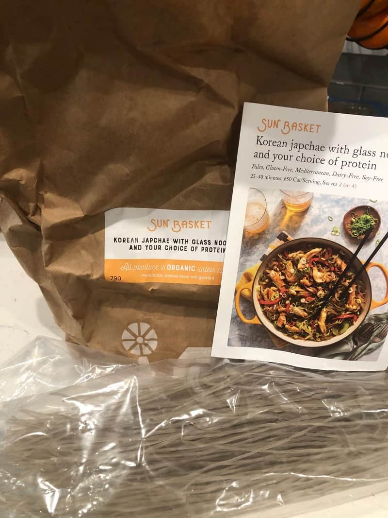 paper bag with meal subscription card from Sun Basket