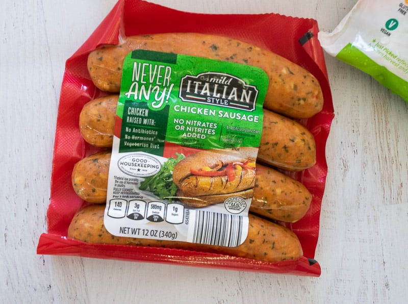 never any italian chicken sausage from ALDI