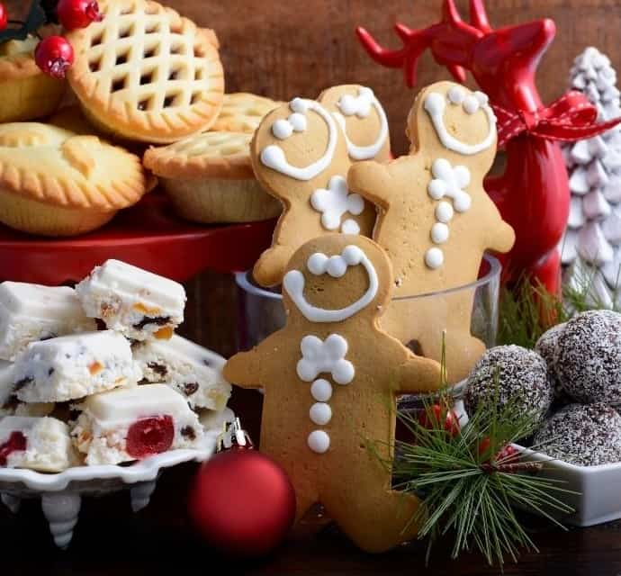 gingerbread cookies and holiday treats