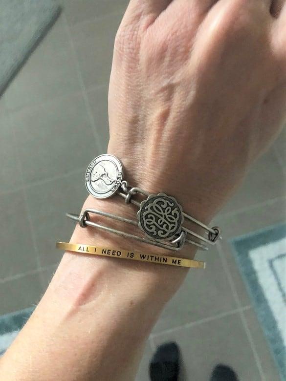 gone for a run inspirational bracelet