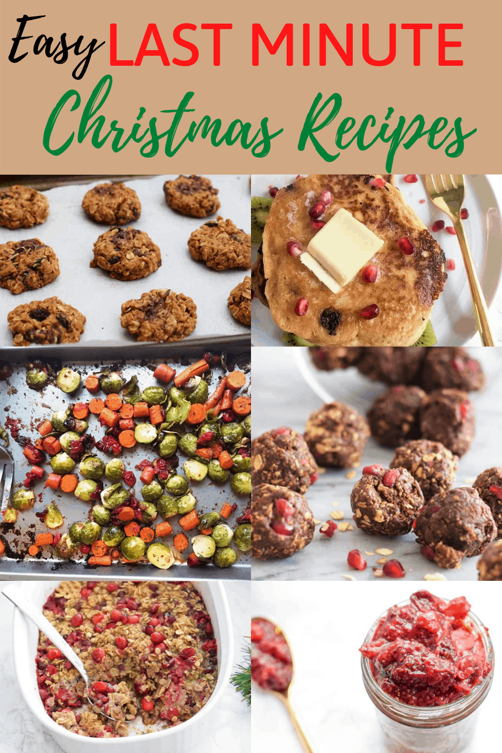 collage of christmas recipes with text overlay