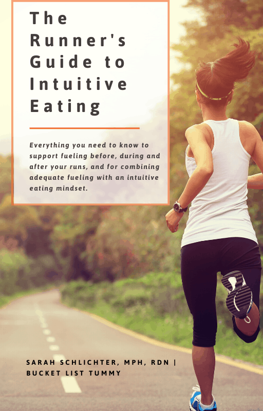 Ebook cover for the Runners Guide to Intuitive Eating