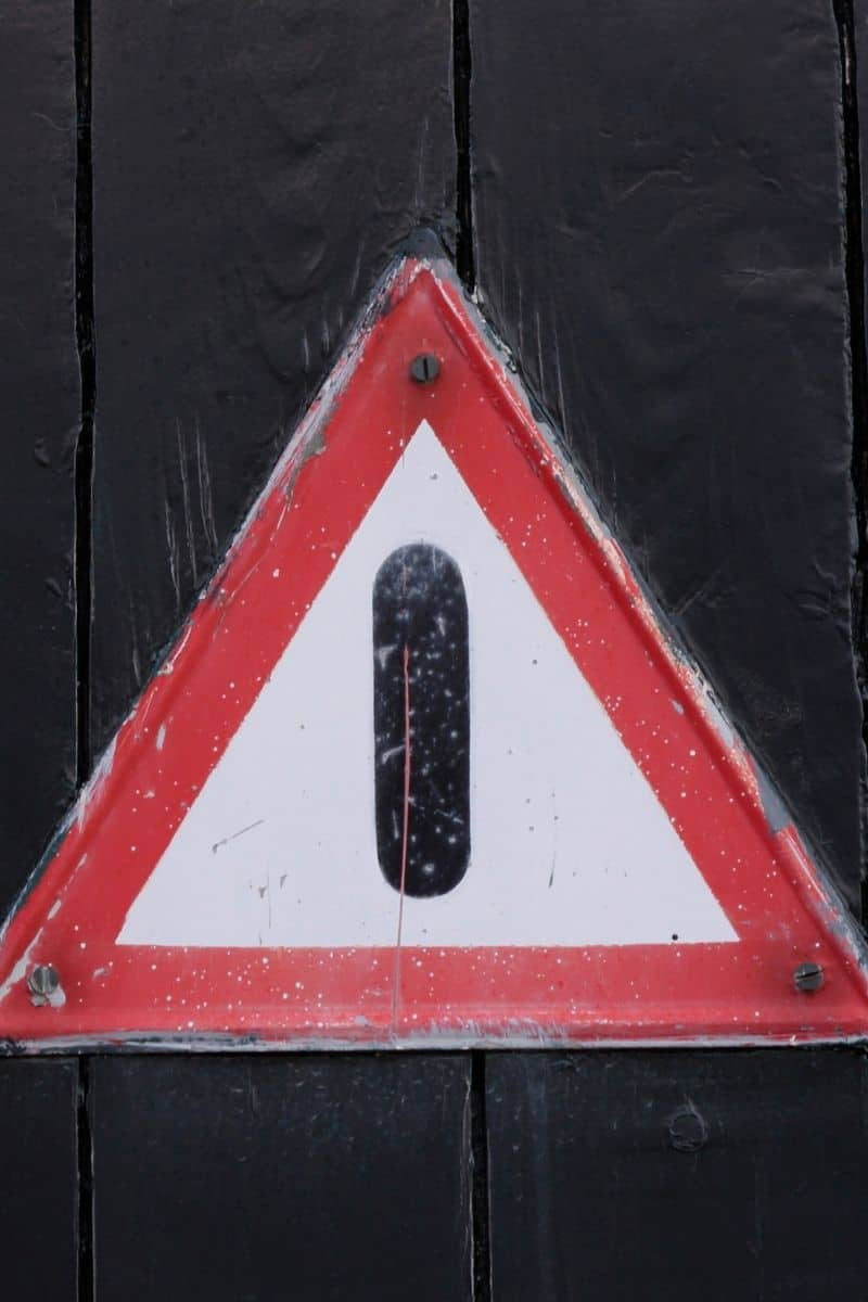 Danger sign to be careful about supplementation