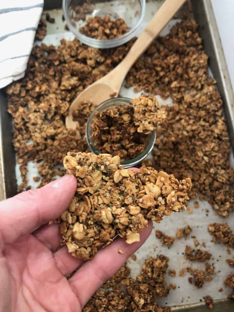 high protein granola chunk