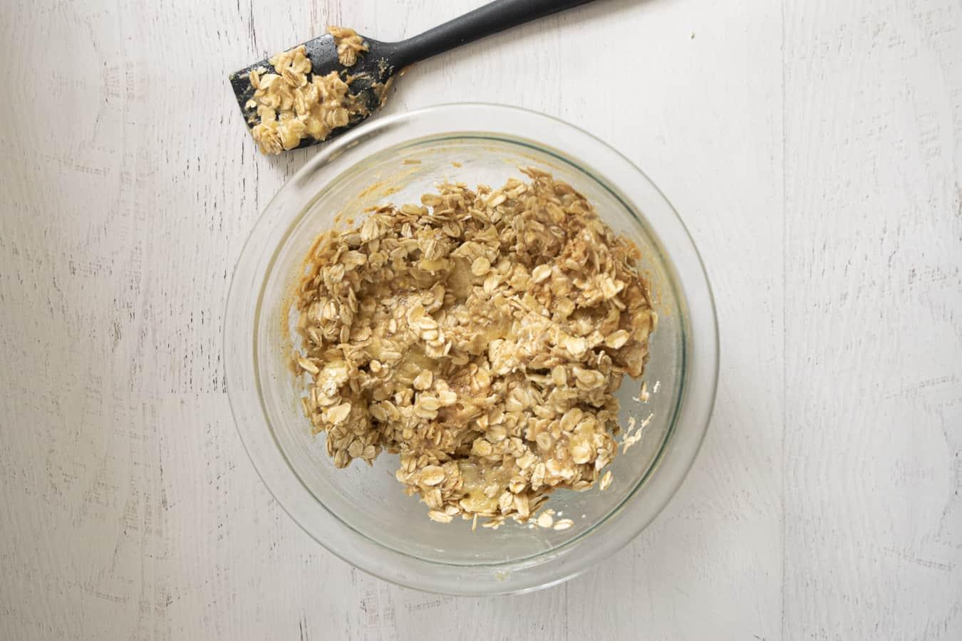 Bowl with ingredients for 3 ingredient vegan cookies