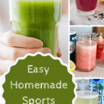 Canva graphic for homemade electrolyte drink for runners
